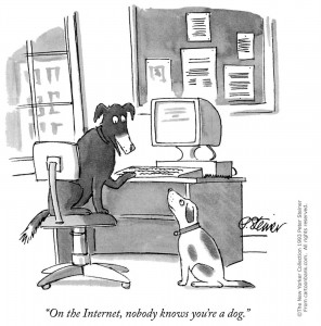On the Internet, nobody knows you're a dog
