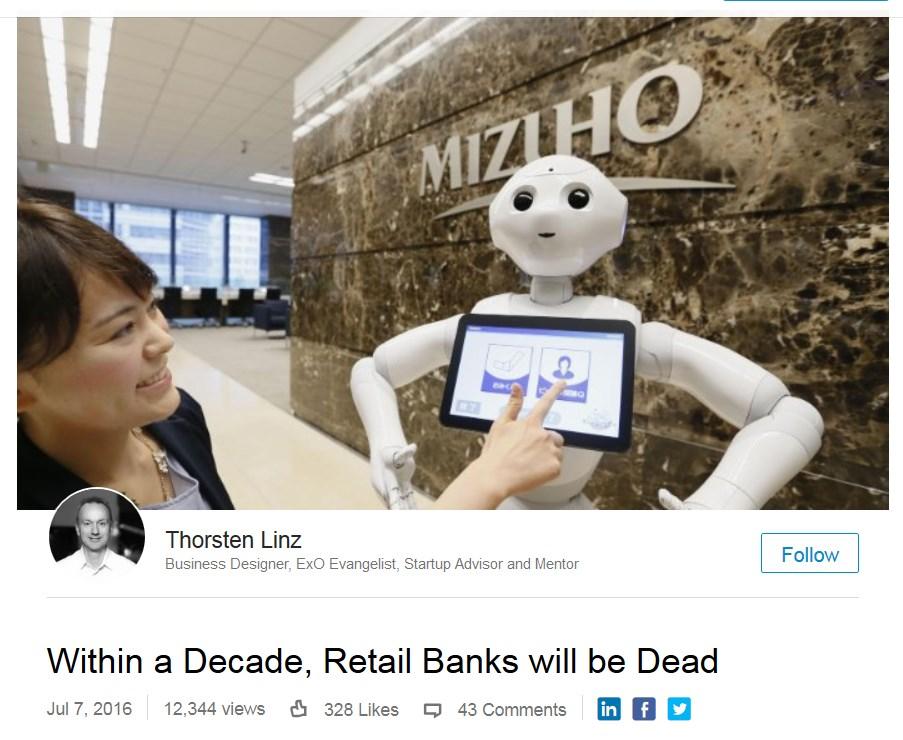 Retail Banks Dead